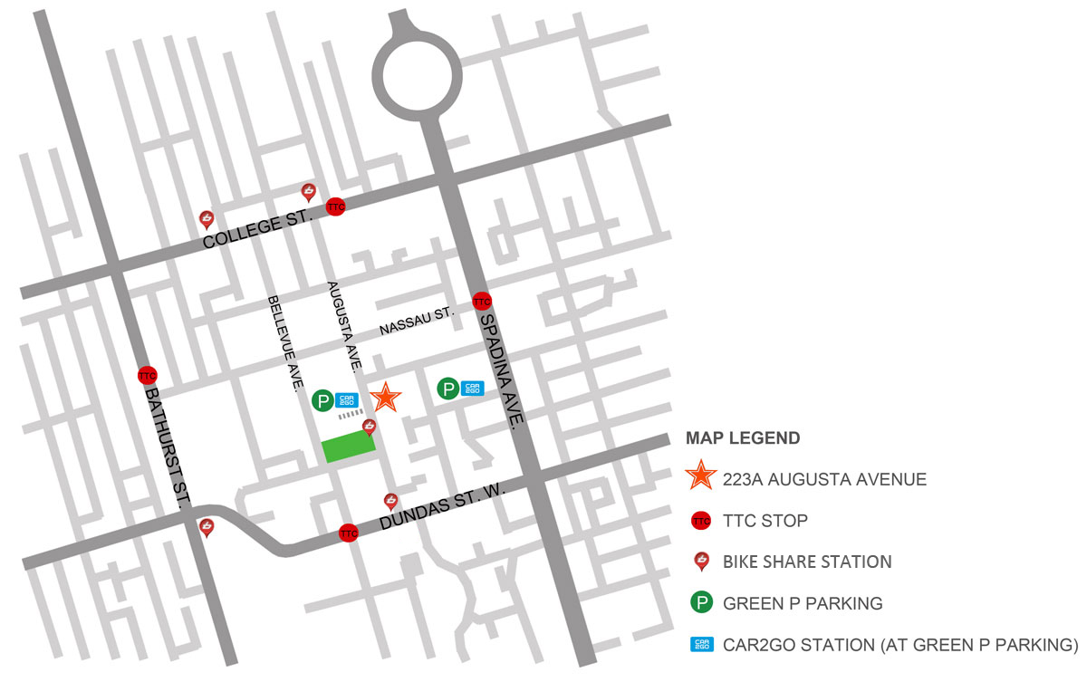 http://maps.google.ca/maps?q=223A+Augusta+Avenue,+Toronto&ie=UT